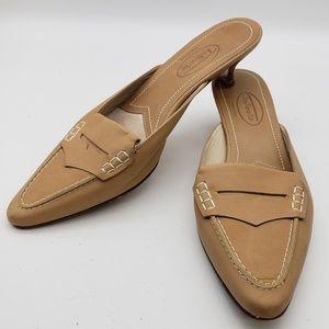 Talbot's loafer mules, kitten heels